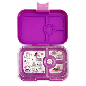 Yumbox Panino with Paris Tray Bijoux Purple 4-Compartment Lunch Box  4格小食盒-巴黎圖案(紫色)