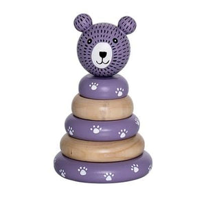 Bloomingville Denmark-Stacking Toy, Purple, Lotus 丹麥品牌木製小型層層疊幼兒玩具