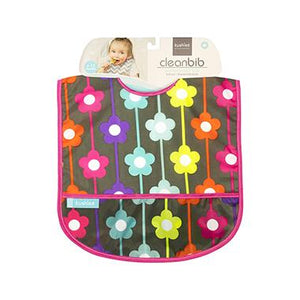 Kushies Canada- Cleanbib | Charcoal Daisies 加拿大品牌Kushies飯衣/圍兜