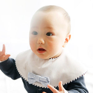 Marl Marl Japan Dolce Light Blue Stripes Bow Tie Bib 日本品牌型格口水巾(免費繡名)