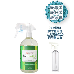 Prime Living-ecoGUARD 360  Natural Sanitizing Cleaner (New Version) -500ml 安全強效極速殺菌清潔劑