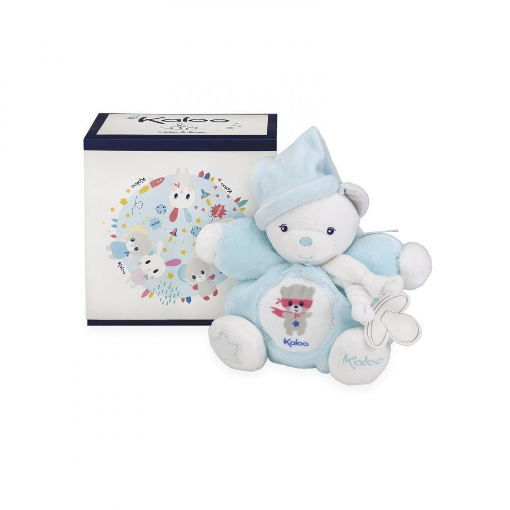 Kaloo France- Chubby Bear Aqua Small 18cm 法國品牌Kaloo 小熊(粉藍色)