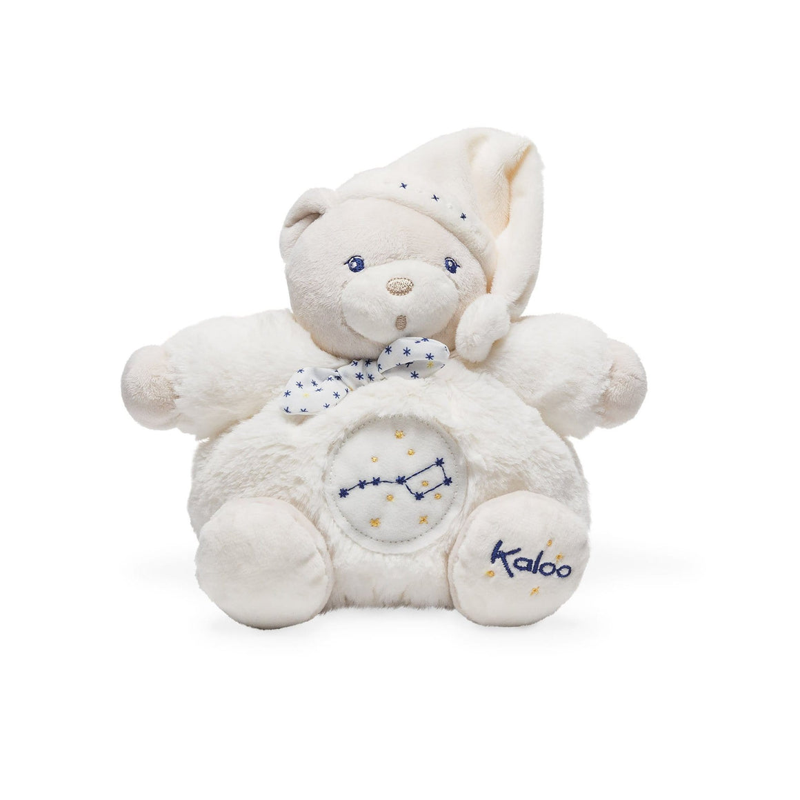 Kaloo France- Chubby Bear Glow Fur Small 18cm 法國品牌Kaloo 小熊(米色睡衣特別版)