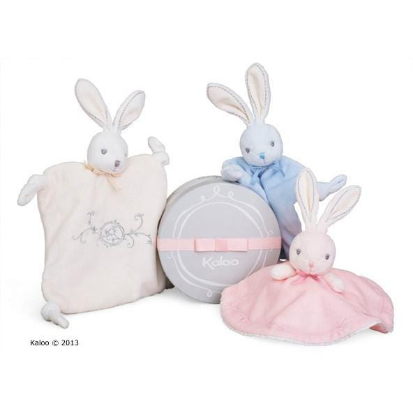 Kaloo France- Perle Blue Rabbit Doudou Knit 法國品牌Kaloo (小兔與安撫巾)(粉藍色)