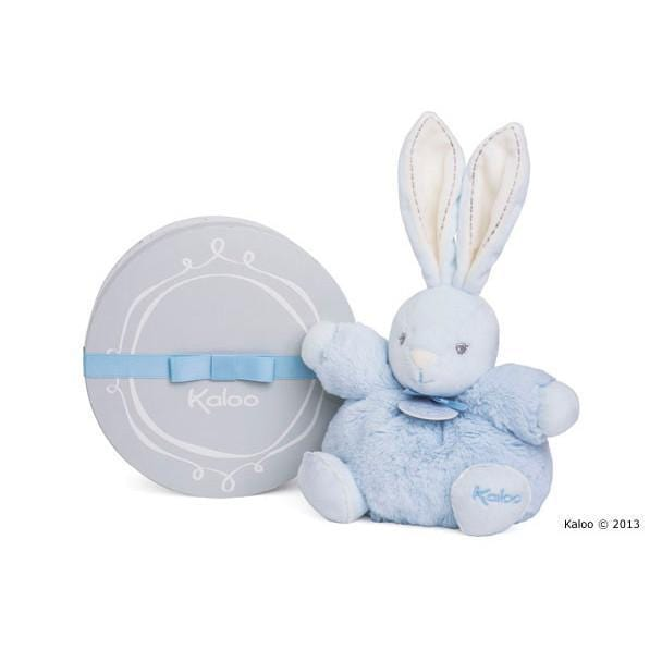 Kaloo France-Perle Small Blue Chubby Rabbit 法國品牌Kaloo (小兔與安撫巾)(粉藍色)