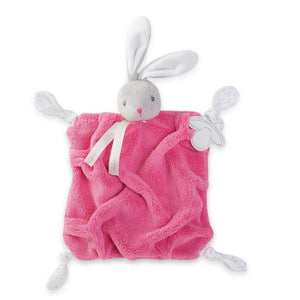 Kaloo France- Plume Raspberry Rabbit Doudou 法國品牌Kaloo 小兔與安撫巾(桃紅色)