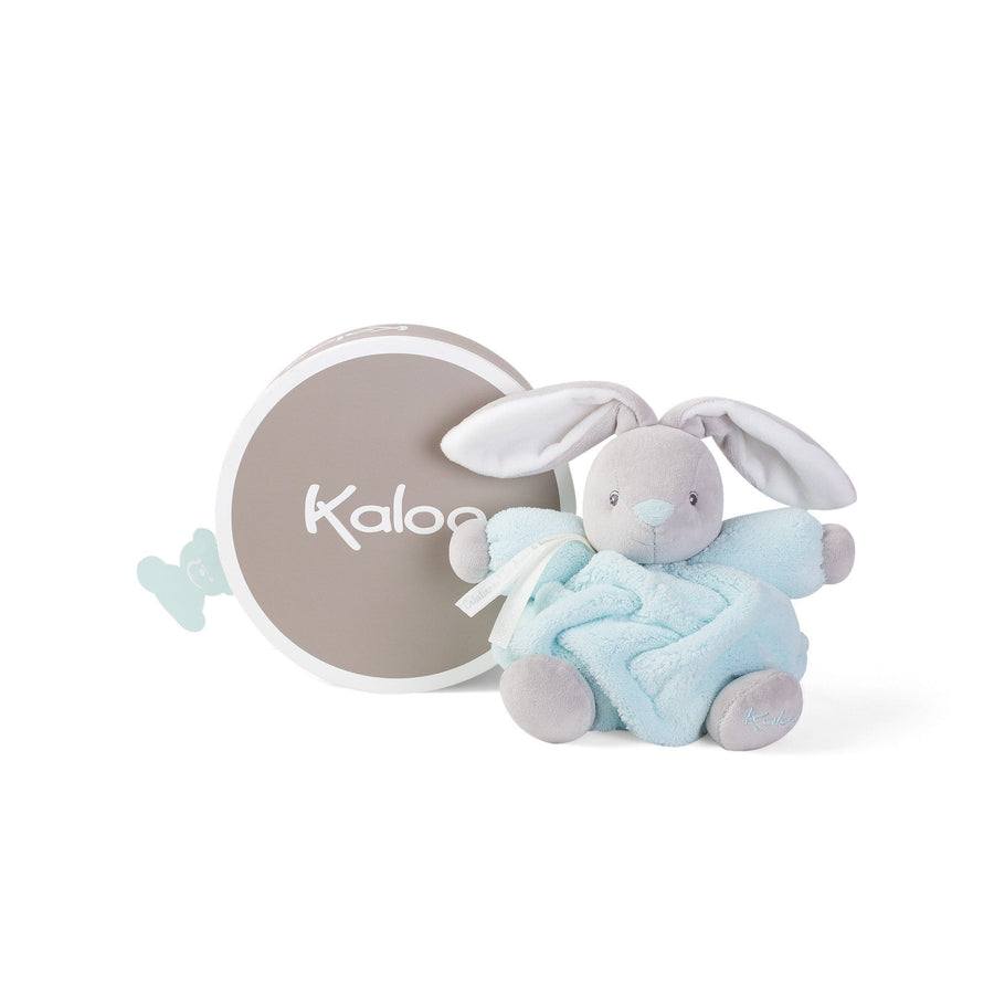 Kaloo France-  Plume Small Aqua Blue Chubby Rabbit 法國品牌Kaloo 小兔(粉藍色)
