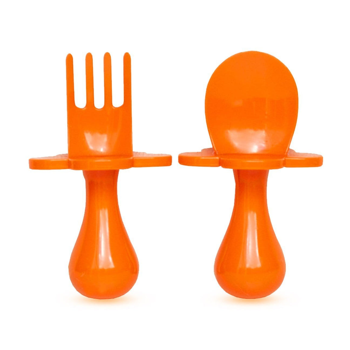 Grabease USA- Eating Utensils Set For Toddlers -Orange You Hungry 美國Grabease幼兒學習雲朵餐具-橙色