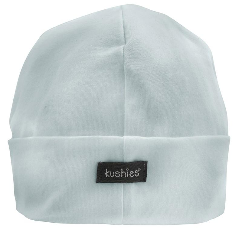 Kushies Canada- Organic Baby Cap ( 1-3 months) Blue