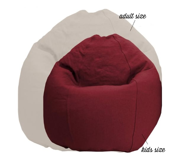 Comfy Bean Chair/Lounger-(Adult) with latex fill
