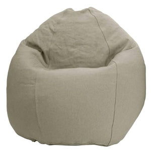 Comfy Bean Kids Chair in Hemp with latex fill