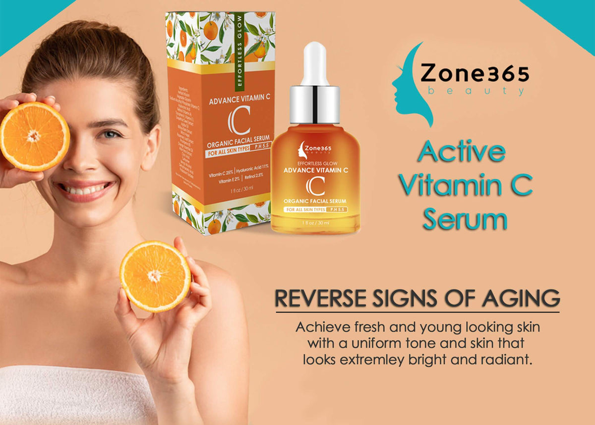 Vitamin C Serum + Hyaluronic Acid Zone 365 Beauty