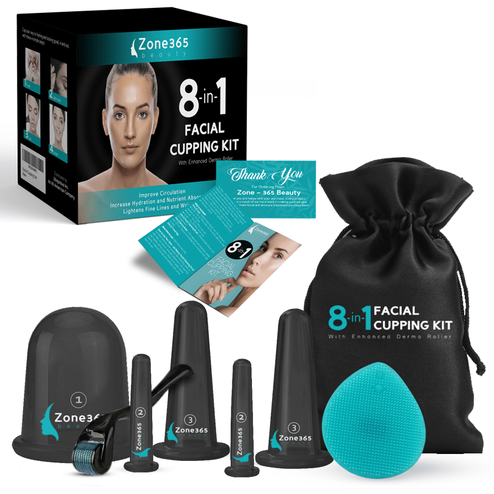 8-in-1 Facial Cupping Set Zone 365 Beauty