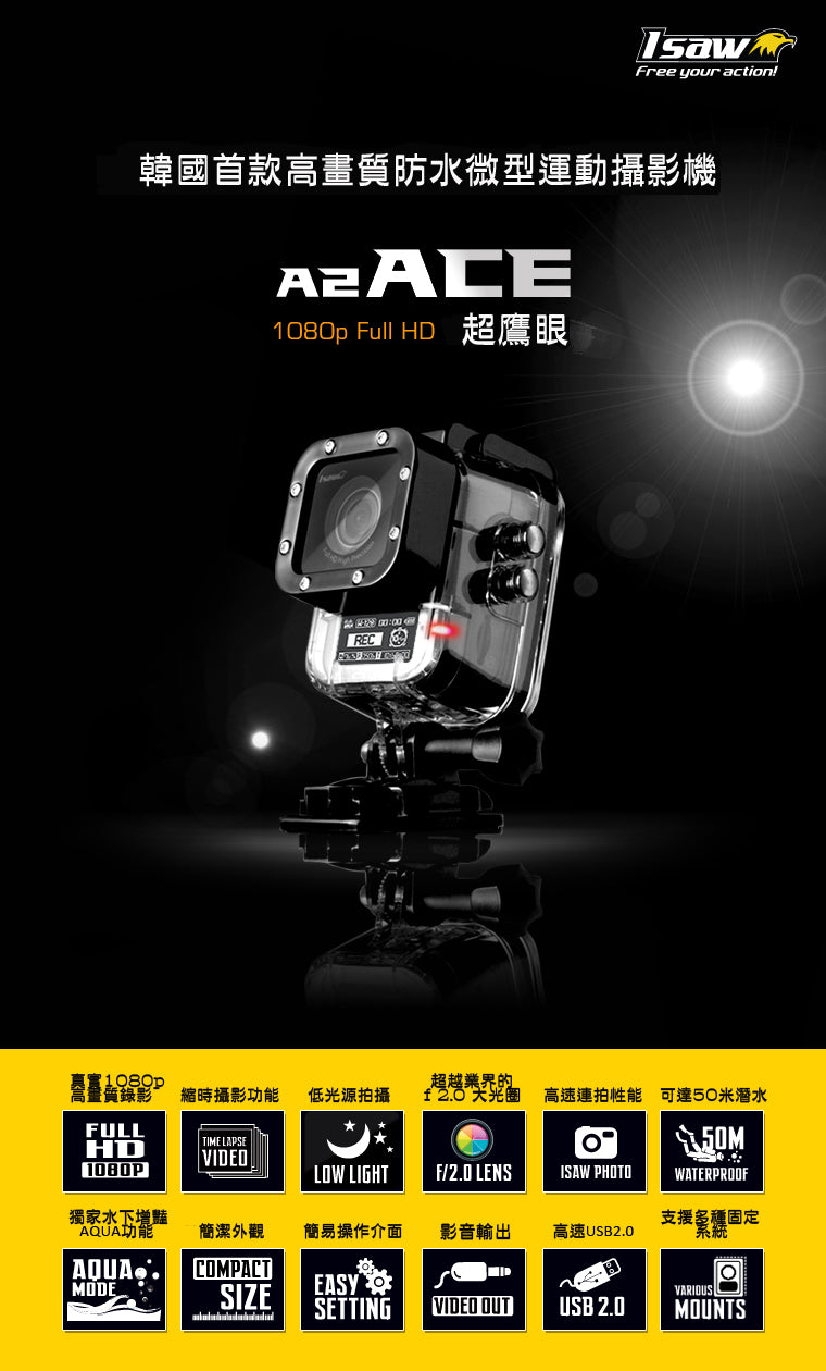 isaw a2 ace action cam