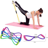 Rubber Elastic Band Chest Legs Shoulders Expander For Yoga