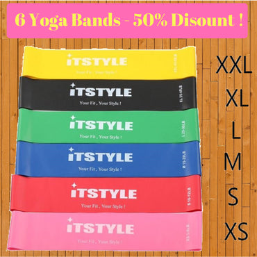 6 Yoga Bands At 50% Discount