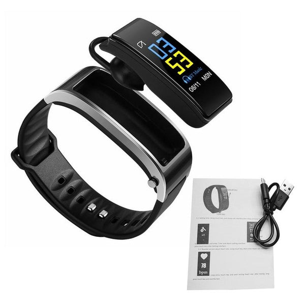 Wearable Headphones - Smart Bracelet With Bluetooth Headphone