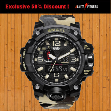 Smael Men Military Waterproof Sport Watch