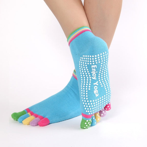 Colorful Yoga And Pilates Socks - Rainbow Colors Socks
