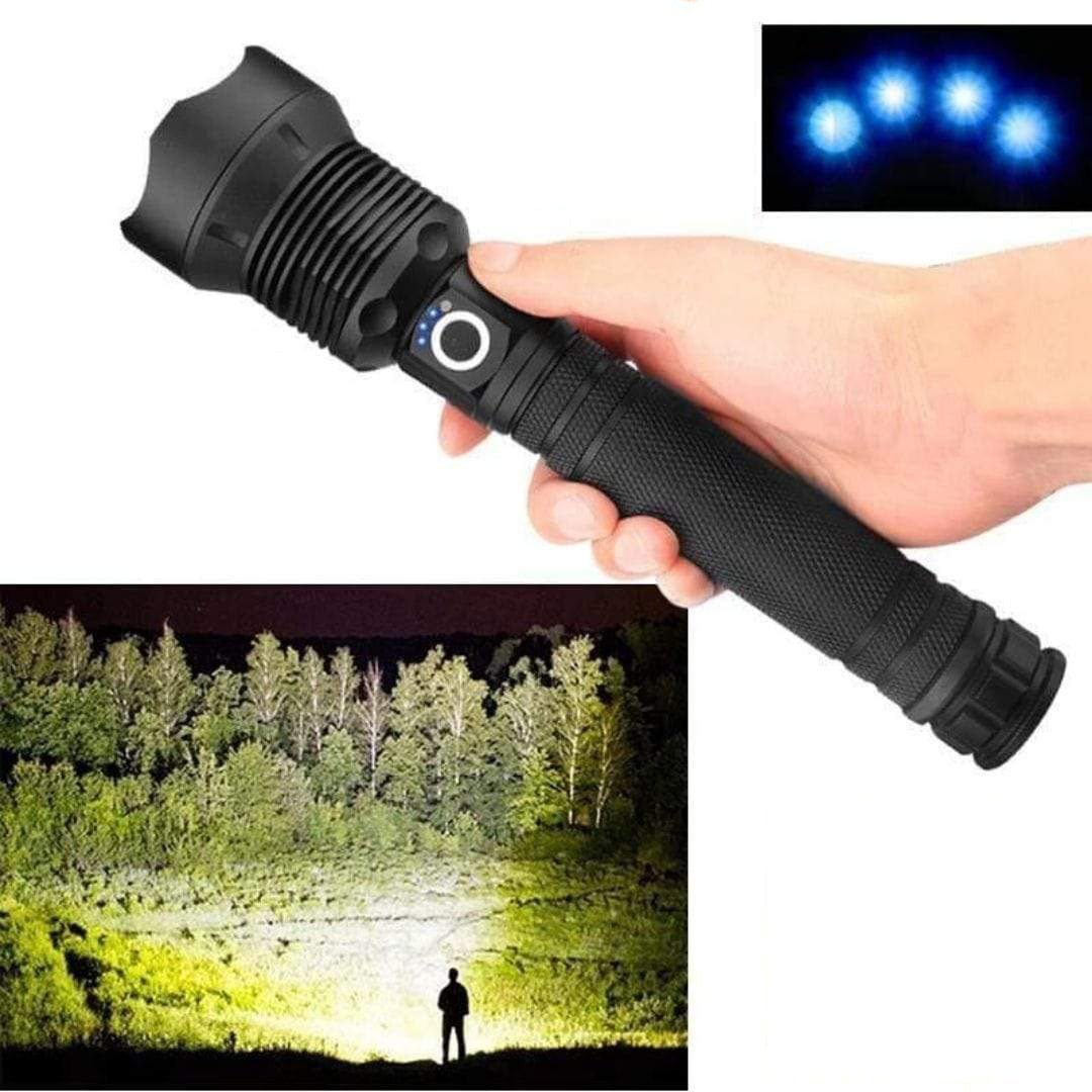 Brightest Poweful Led Flashlight 90000 Lumens XHP70.2