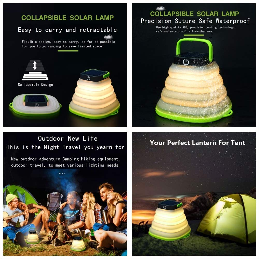 Portable Waterproof Collapsible Solar LED Lantern
