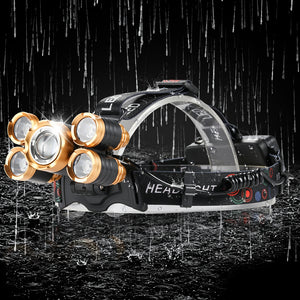 Open image in slideshow, Waterproof  LED Headlamp Fishing Headlight