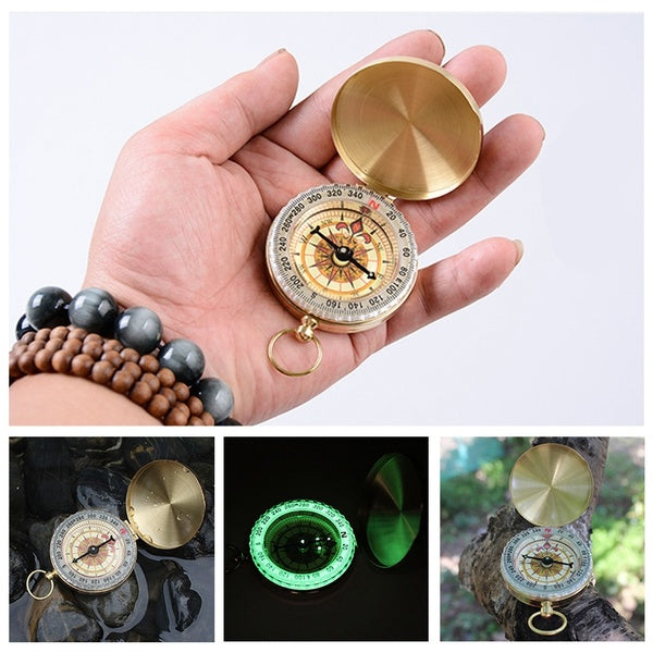Glow in the Dark Pocket Camping Compass Waterproof Survival Gear Compasses