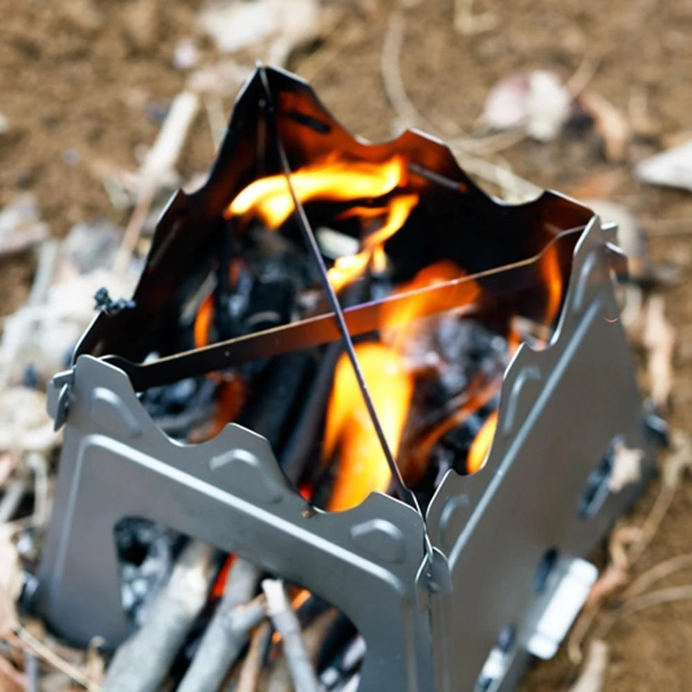 Portable Camping Stove Outdoor Camp Wood Burning