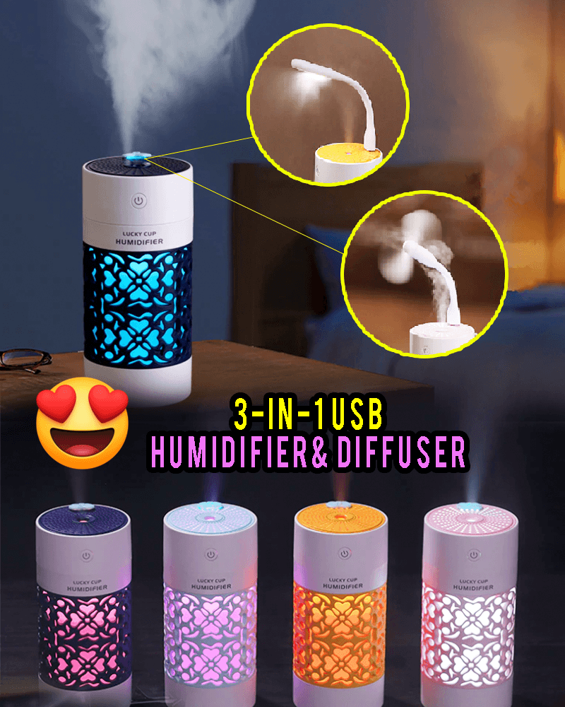 3 in 1 USB Humidifier Diffuser