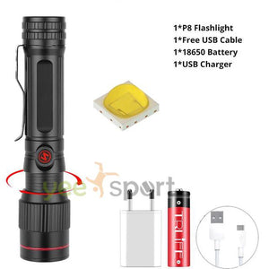 Brightest Waterproof Rechargeable Zoom Hunting Light