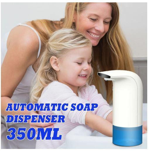 Touchless Automatic Foaming Hand Wash Soap Dispenser 350ml Infrared Smart Sensor for Kitchen Bathroom