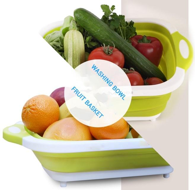 Folding Plastic Cutting Boards Chopping Dish Tub
