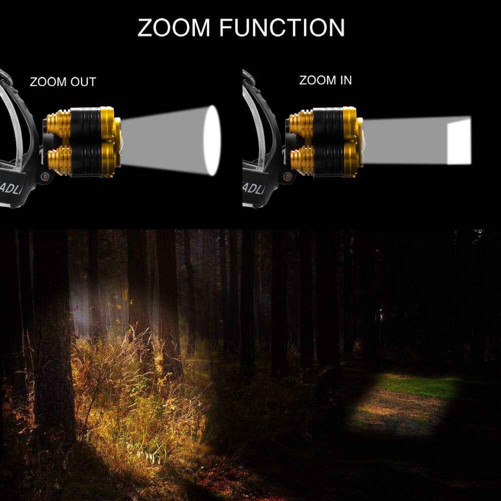 Waterproof  LED Headlamp Fishing Headlight