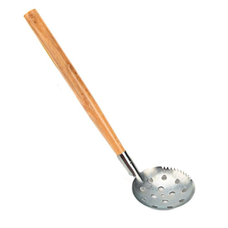 Wood / Plastic Handle Winter Ice Trap Shovel Skimmer Ice Bait Spoon