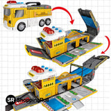 SR Superb Transformable Occupation Truck (Included 8 Cars & 1 Helicopter) - Shopping Roll