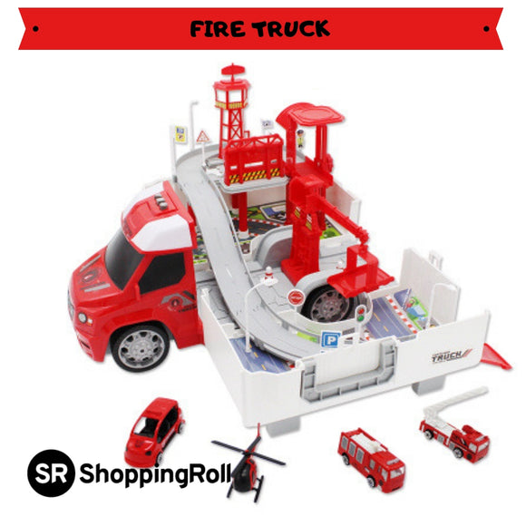 SR Premium Transformable Truck (Included 1 Autocar + 3 Cars)