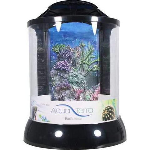 Aqua Terra With 3d Coral Background Aquarium