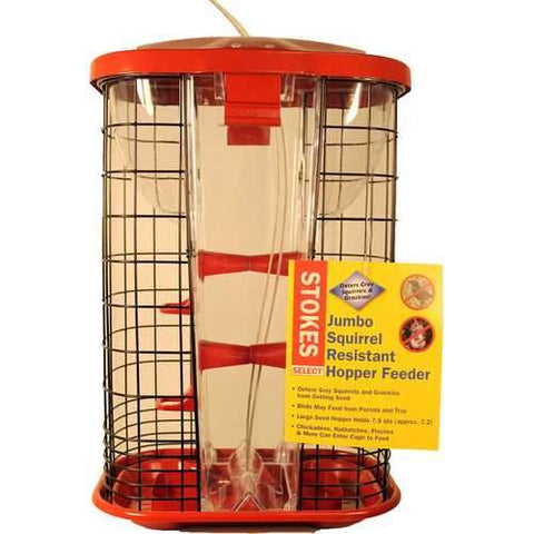 Stokes Jumbo Squirrel Resistant Hopper Feeder