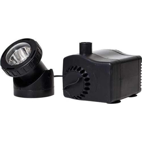 Low Water Auto Shut-off Fountain Pump W/ Led Light