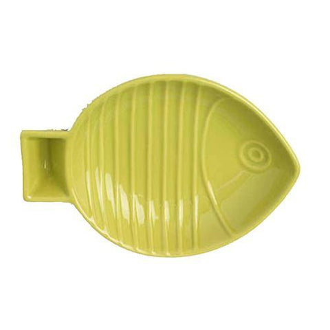 Key West Embossed Fish Cat Saucer - Lime
