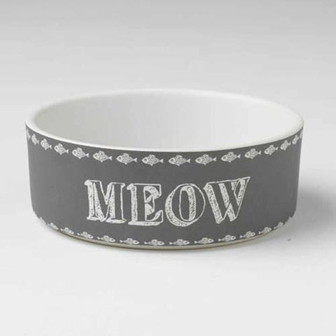 Chalk It Up Meow Cat Bowl