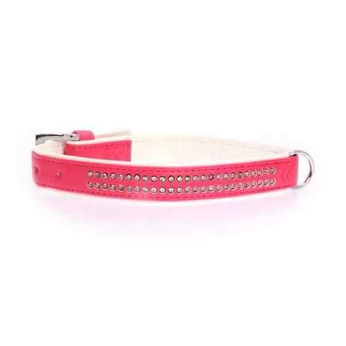 Sparkle Gemstone Dog Collar - Raspberry