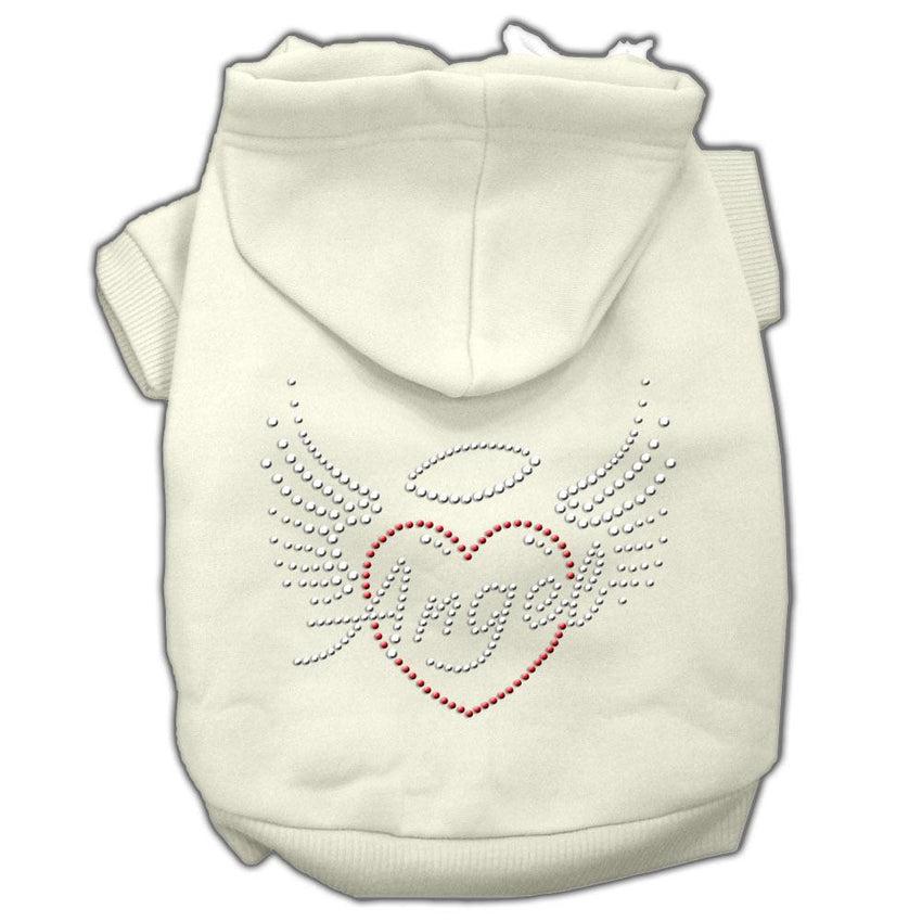 Angel Heart Rhinestone Hoodies Cream M (12)