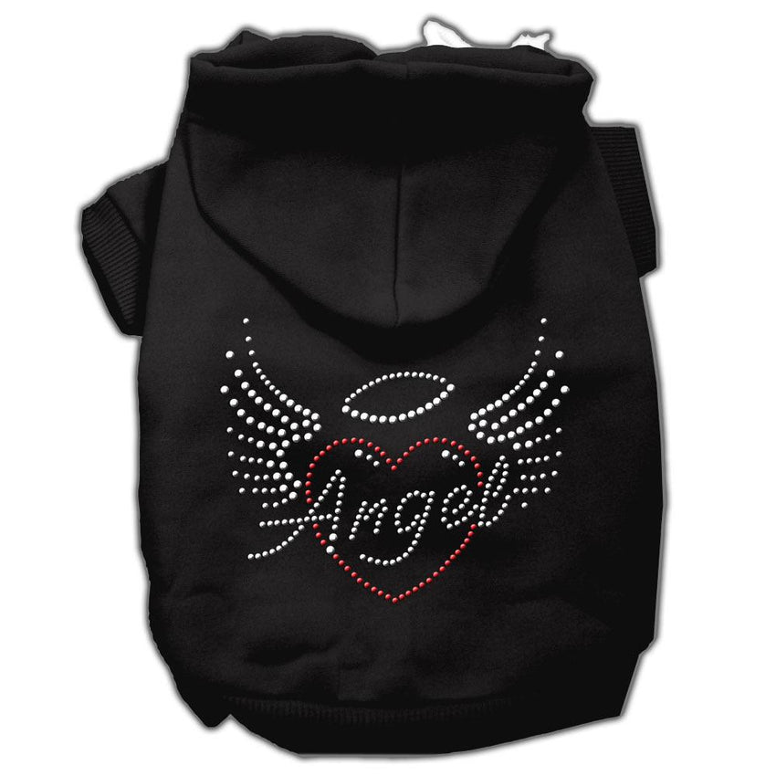 Angel Heart Rhinestone Hoodies Black S (10)