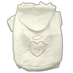 Angel Heart Rhinestone Hoodies Cream S (10)