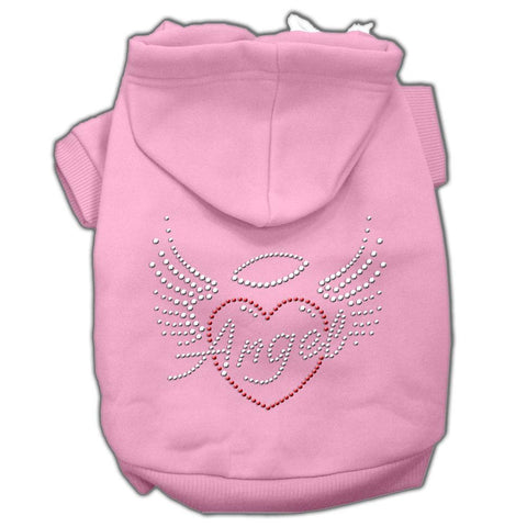 Angel Heart Rhinestone Hoodies Pink S (10)