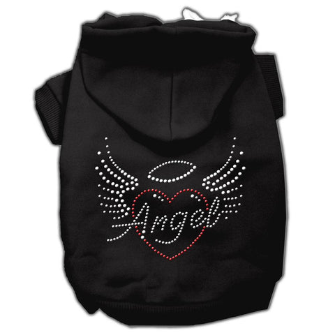 Angel Heart Rhinestone Hoodies Black XXL (18)