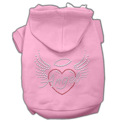 Angel Heart Rhinestone Hoodies Pink XXL (18)