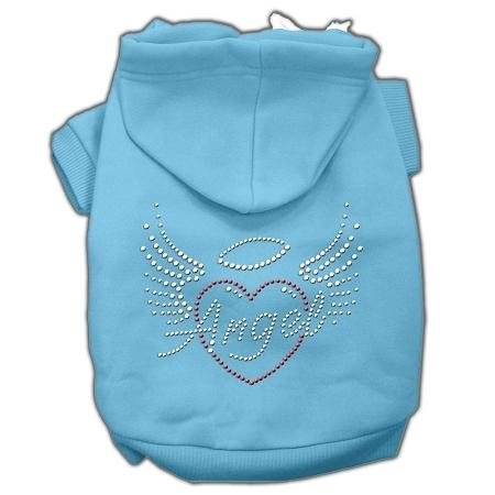 Angel Heart Rhinestone Hoodies Baby Blue XXXL(20)
