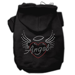 Angel Heart Rhinestone Hoodies Black XXXL(20)